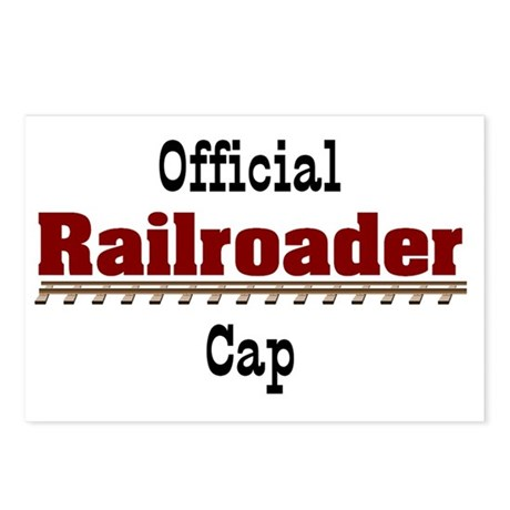 Official Railroader Cap Postcards (Package of 8)