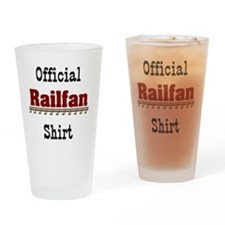 Official Railfan Shirt Drinking Glass
