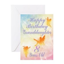 Flower fairy birthday card for granddaughter age 8