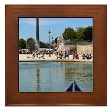 Summer in the Tuileries Framed Tile