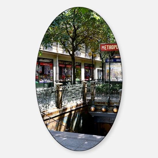 Paris Metro Sticker (Oval)