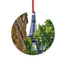 Eiffel Tower Round Ornament