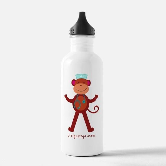 Monkey RN Nurse Water Bottle