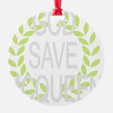 God Save McQueen Ornament