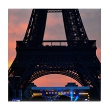 Eiffel Tower at Sunset, Bastille Day Tile Coaster