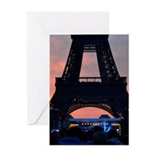 Eiffel Tower at Sunset, Bastille Day Greeting Card
