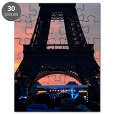 Eiffel Tower at Sunset, Bastille Day Puzzle
