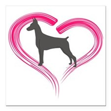 """HeartMyBlueDoby Square Car Magnet 3"""" x 3"""""""