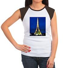 Eiffel Tower at Night o Women's Cap Sleeve T-Shirt