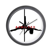 Addicted Black/Red Wall Clock