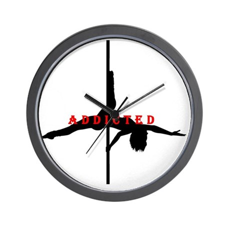 Addicted black red wall clock by admin cp56826197 for Red and black wall clock