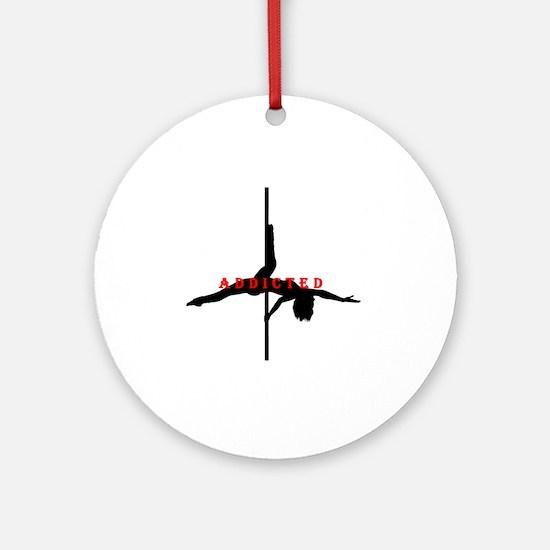 Addicted Black/Red Round Ornament