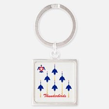Thunderbirds Square Keychain