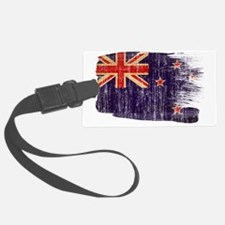 New Zealandtex3-paint style aged Luggage Tag