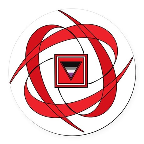 Flux Love Round Car Magnet