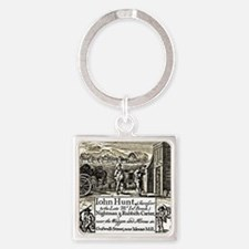 Advertising Card Square Keychain