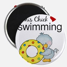 This Chick Loves Swimming Magnet
