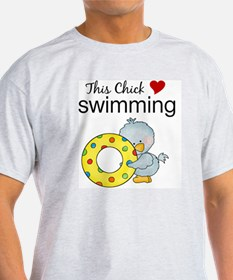 This Chick Loves Swimming T-Shirt