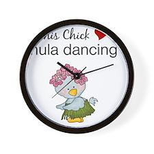 This Chick Loves Hula Dancing Wall Clock