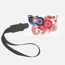 Taiwan textured flower aged copy Luggage Tag