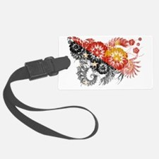 Papua New Guinea textured flower Luggage Tag