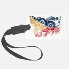 Philippines textured flower aged Luggage Tag