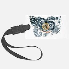 idaho textured flower aged copy Luggage Tag