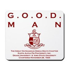 G.O.O.D. Man (Red) Mousepad