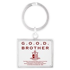 G.O.O.D. Brother (Red) Landscape Keychain