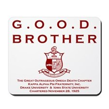G.O.O.D. Brother (Red) Mousepad