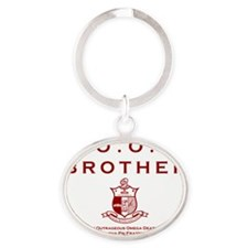 G.O.O.D. Brother (Red) Oval Keychain