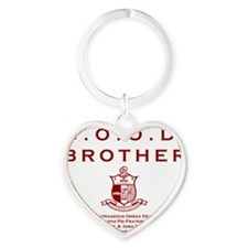 G.O.O.D. Brother (Red) Heart Keychain