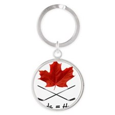 Canada-Hockey-6 Round Keychain