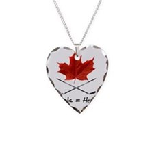 Canada-Hockey-6 Necklace Heart Charm