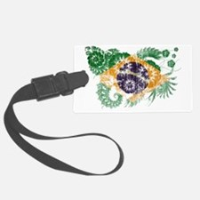 Brazil textured flower aged copy Luggage Tag