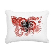 Albania textured flower  Rectangular Canvas Pillow