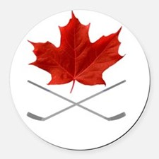 Canada-Hockey-6-whiteLetters copy Round Car Magnet