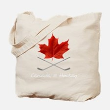 Canada-Hockey-6-whiteLetters copy Tote Bag