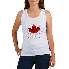 Canada-Hockey-6-whiteLetters copy Women's Tank Top
