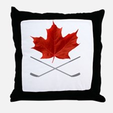 Canada-Hockey-6-whiteLetters copy Throw Pillow