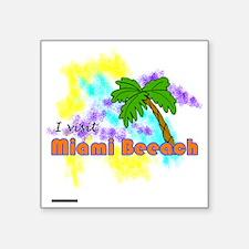 """Miami Beeaach Square Sticker 3"""" x 3"""""""