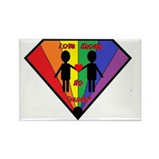 Gay love knows no gender Rectangle Magnet