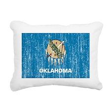 Oklahoma aged copy Rectangular Canvas Pillow