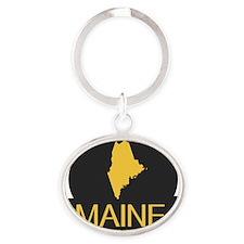 Maine Oval Keychain