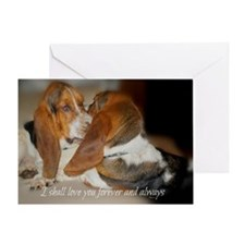 Rescue a hound today Greeting Card