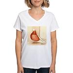 English Shortface Bald Women's V-Neck T-Shirt