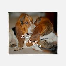 Adopt A Hound -sticker Throw Blanket