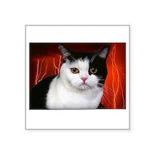 "judgment cat use dark Square Sticker 3"" x 3"""