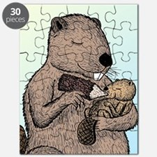 Mother Beaver and Baby Puzzle