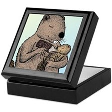 Mother Beaver and Baby Keepsake Box